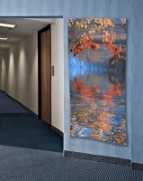 Ontario: Hallway with photograph printed on satin