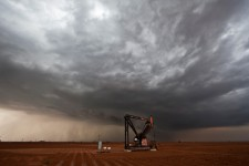 Supercell with Oil Rig, Levelland, TX
