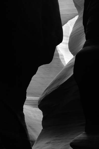 Slot Canyon in Black and White