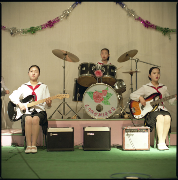 Music Band, Pyongyang School, N. Korea