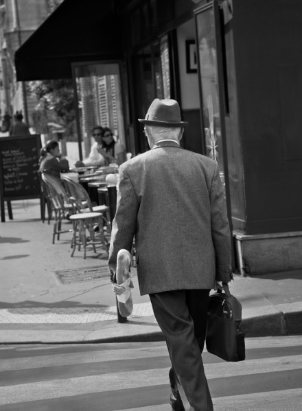 Well Dressed Man with Baguette