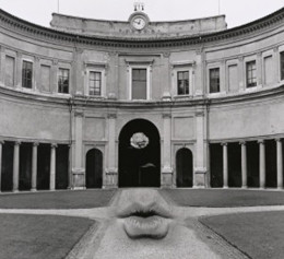 Untitled, aka Lips on Walk: Jerry N. Uelsmann