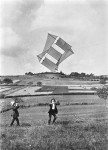 Cousins Trying to Fly a Kite: Jacques Henri Lartigue (Sold)