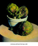 Artichokes with Bowl