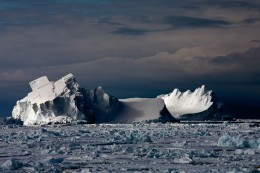 Icebergs Floating In Drift Ice II
