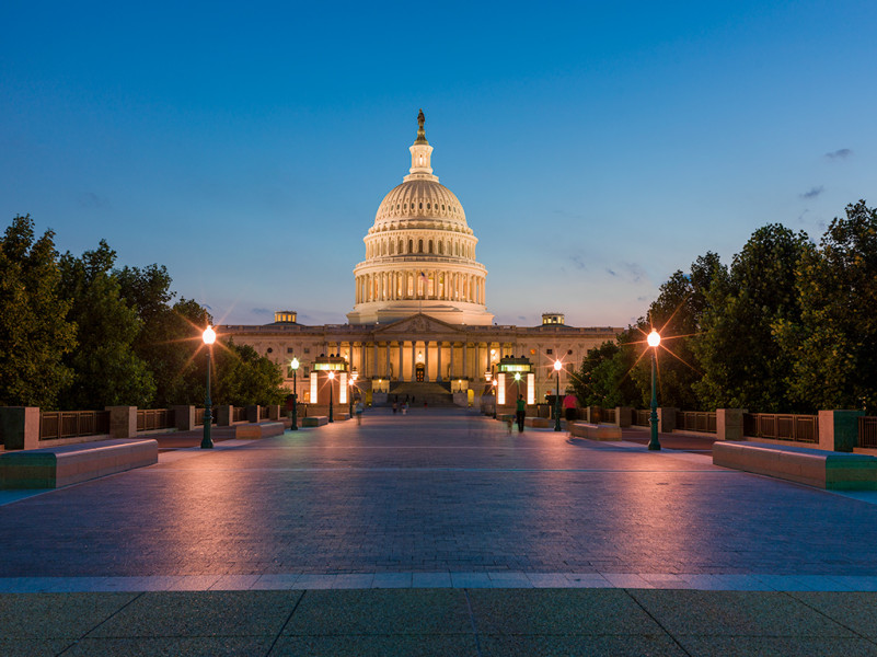 US Capital, East Side, After Sunset