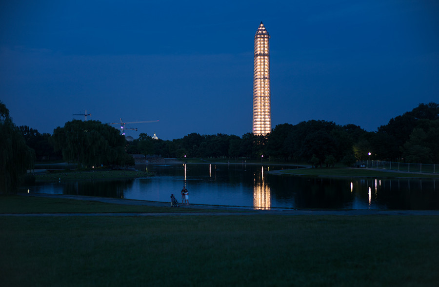 Washington Monument with its Exoskeleton