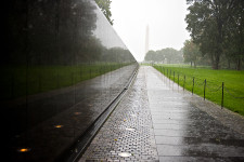Vietnam Memorial on a Foggy Afternoon