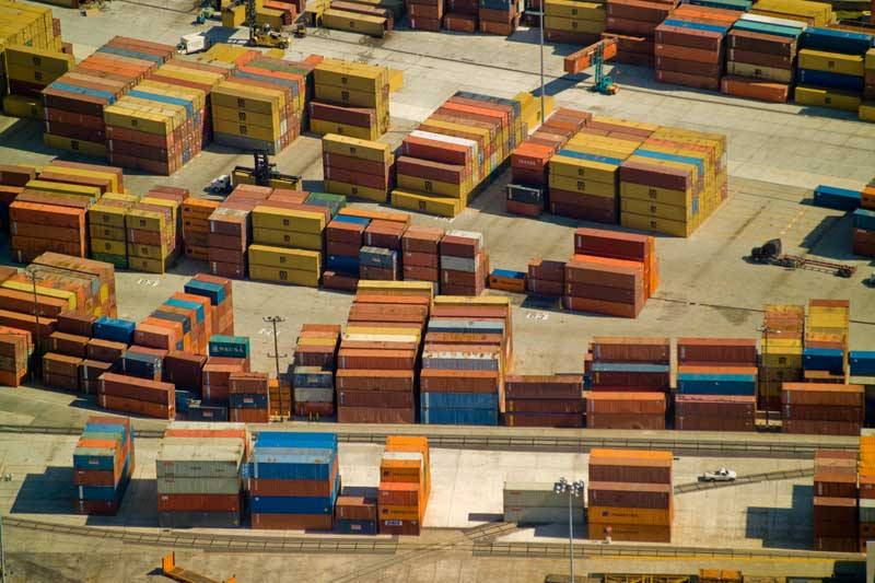 Shipping Containers, MIssissippi River, near New Orleans, LA