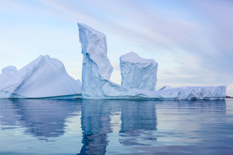 Iceberg Towers at Dawn, Pleneau Bay
