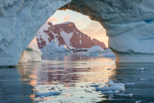 Iceberg Arch at Sunset