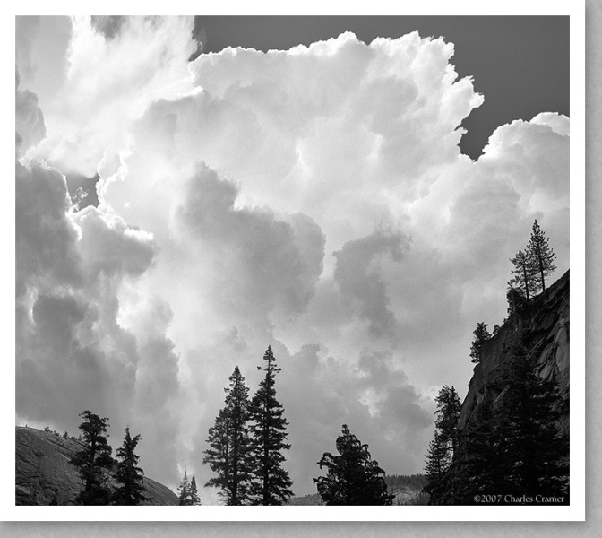 Thunderclouds, Merced River Canyon
