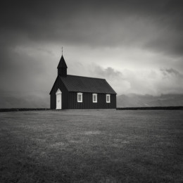 Black Wooden Church II, Iceland
