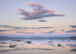Sunset, Light and Clouds, Mono Lake