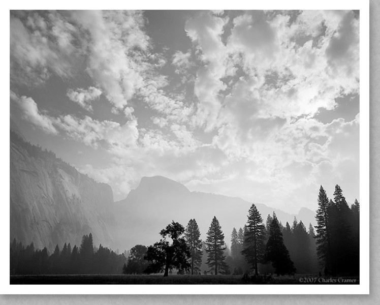 Half Dome, Morning Clouds, Yosemite Valley