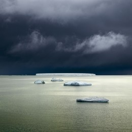 Five Icebergs, Antarctica (SOLD)