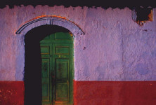 Green Door with Arch, Peru