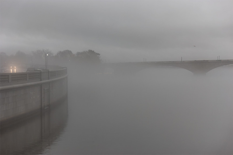 Memorial Bridge and Fog