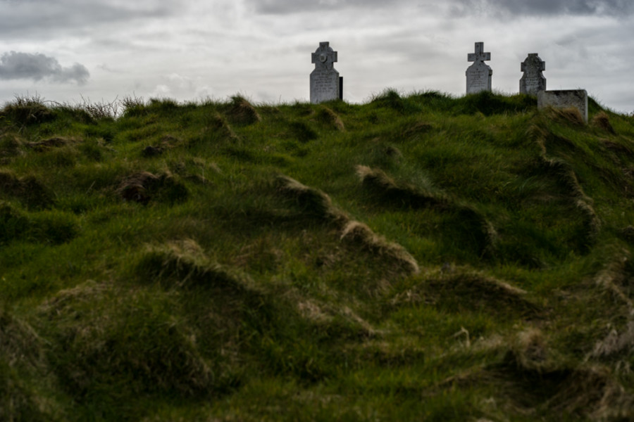 Churchyard on Atlantic Ocean, Connemara