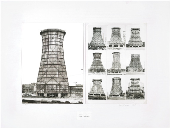 Kuhlturme/Stahl-Welleternit (Water Cooling Tower): Bernd and Hilla Becher