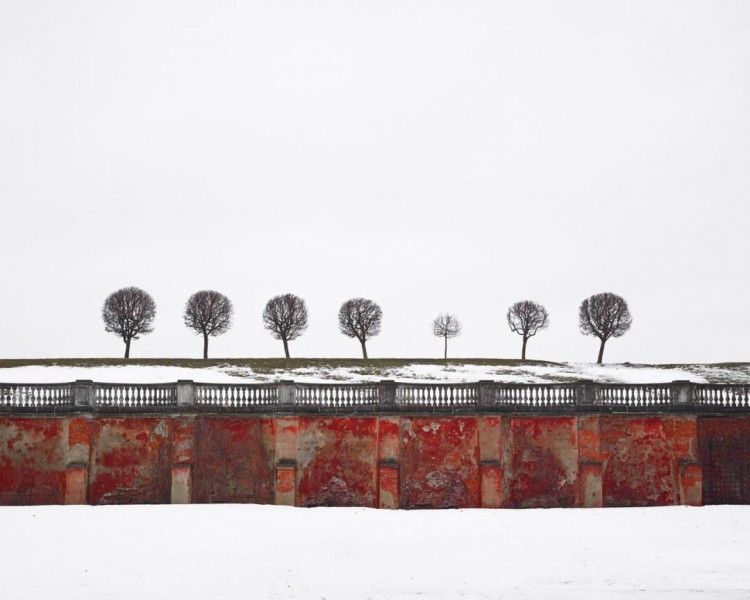 Red Wall, Peterhof, Russia