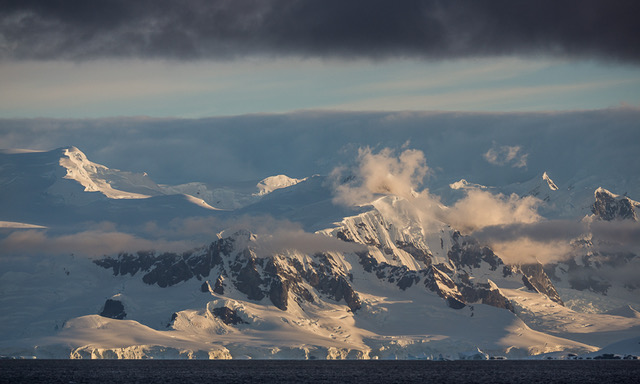Evening Light, Gerlache Strait, Antarctic Peninsula, Antarctica  2014