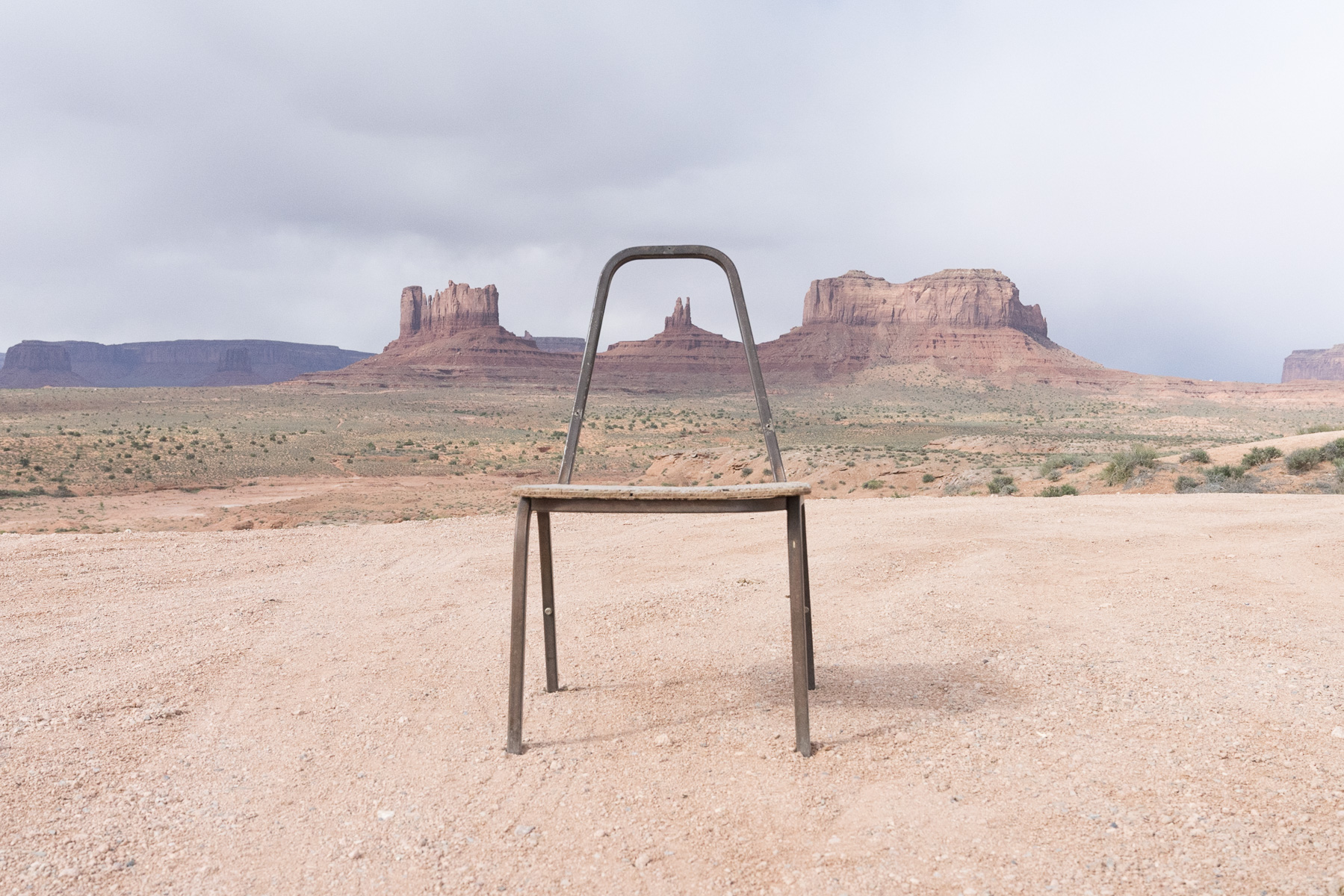 Roadside Gestalt At Monument Valley By Natalie