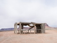 Roadside: Skeleton at Monument Valley