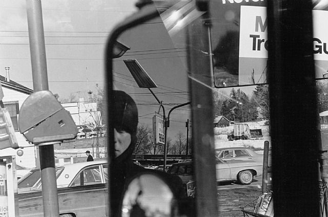Filling Station, Rear View Mirror: Lee Friedlander