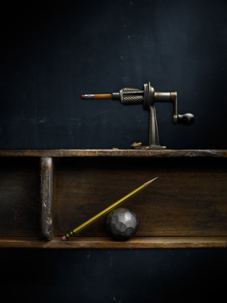 Still Life with Pencil Sharpener and Steel Ball