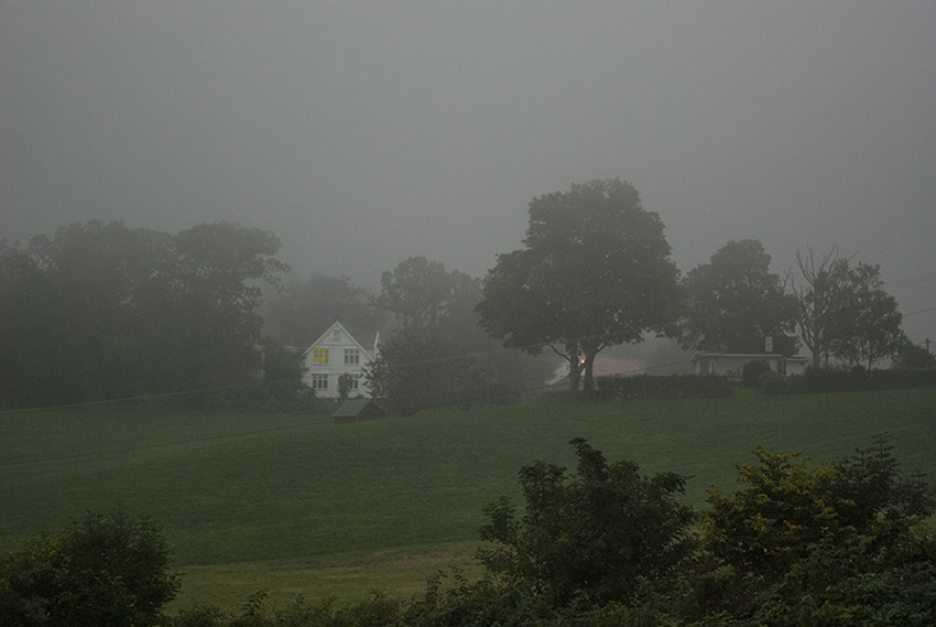 White House in Fog