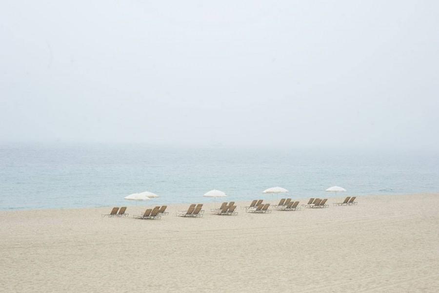 Barcelona, Spain (White umbrellas)