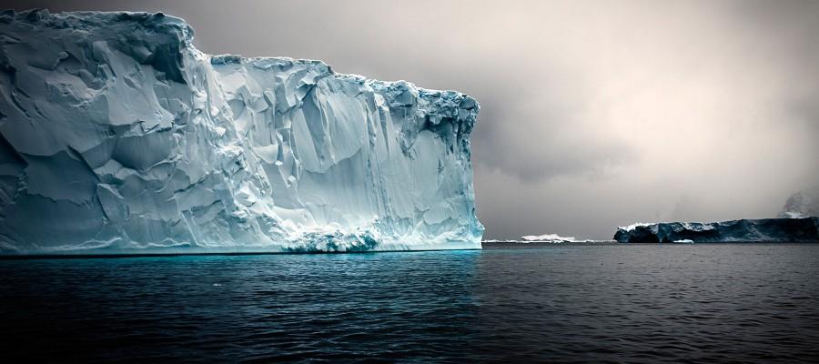 Tabular Iceberg, Detail, Antaractic Sound (A)
