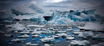 Errera Channel Blocked Up, Antarctic Peninsula