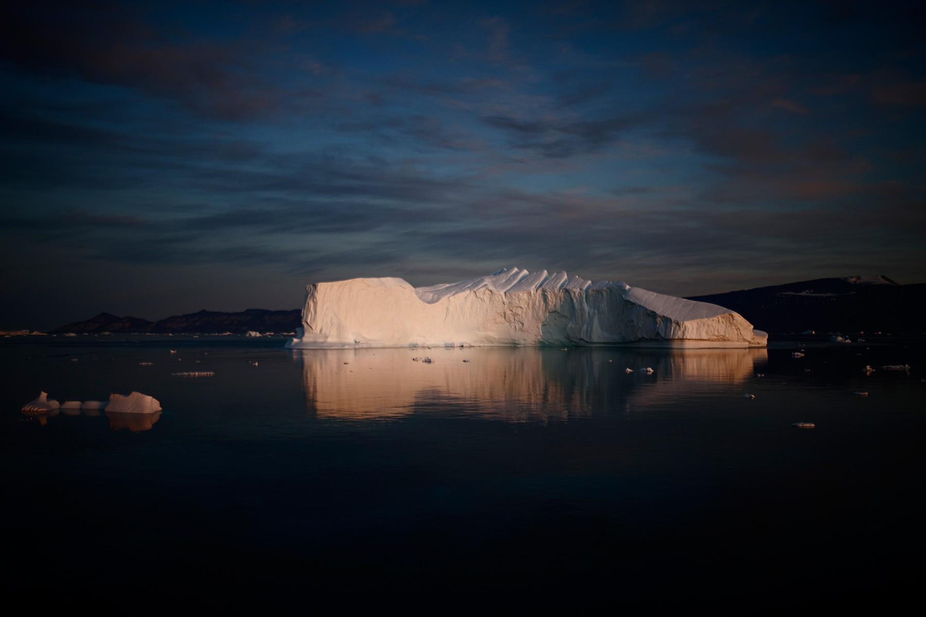 iceberg at sunset west greenland