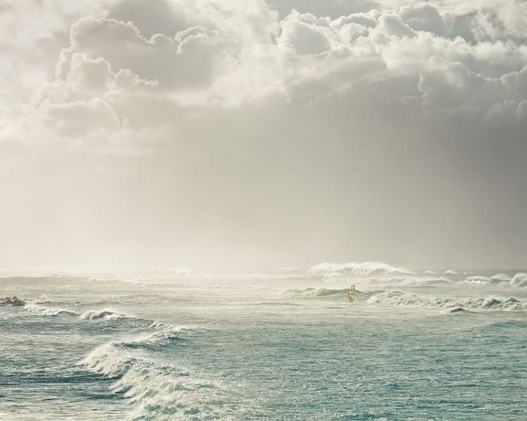 Lone Windsurfer, Hookipa Beach, Hawaii