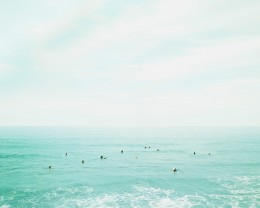 Surfers, Oahu, Hawaii