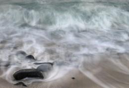 Receding Waves, Dawn, Hawaii