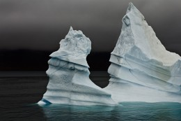 Grand Pinnacle Iceberg, Detail, East Greenland
