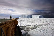 Looking at Icebergs Near Franklin Island, Ross Sea