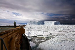 Looking at Icebergs Near Franklin Island, Ross Sea