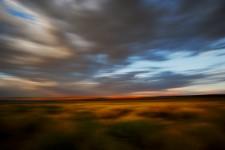 Sunset, Clouds and Sage, Mono Lake