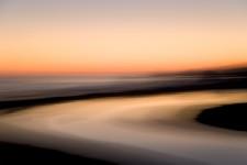 Sunset, San Simeon Creek, San Simeon State Park
