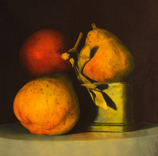 Pomegranate and Two Pears