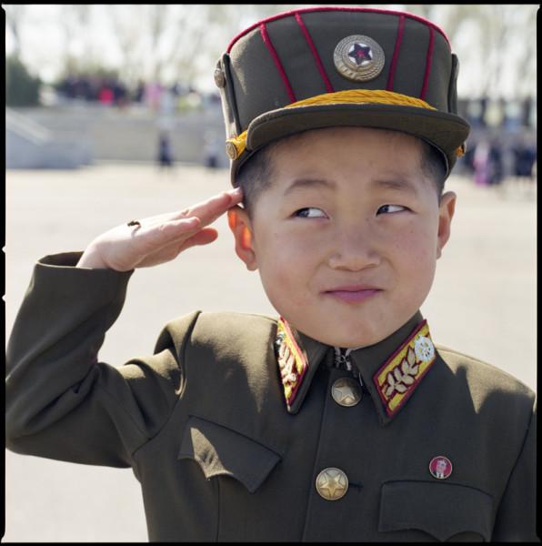 Boy Soldier, Army Day, Pyongyang, N. Korea