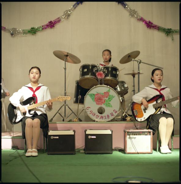 Music Band, Pyongyang School, N. Korea