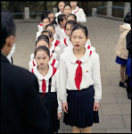 Students and their Teacher, Mangyongdae, N. Korea
