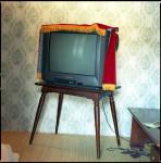 TV, Kaesong Folk Hotel, Pyongyang, N. Korea