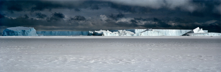 Icebergs Frozen in Sea Ice, Cape Washington