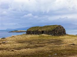 Unoccupied Stone House, Kirkjubour, Faroe Islands